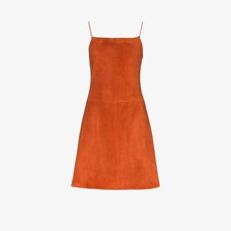 Rosetta Getty Suede Mini Dress