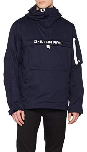 G Star Men's Rackam Deconstructed Hooded Anorak Jacket, (Sartho Blue 6067), Small