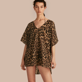 Burberry Animal Print Cotton Silk Swimwear Cover-up