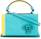 Emilio Pucci embossed logo foldover tote - women - Calf Leather - One Size