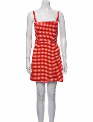 Faithfull The Brand Plaid Print Mini Dress Red