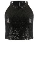 City Chic Sequin Crop Top