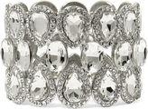 JCPenney BIJOUX BAR Natasha Crystal Silver-Tone Stretch Bracelet