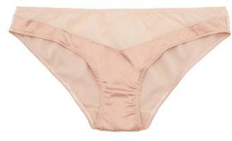 Araks Aaron Silk-blend Chiffon And Satin Briefs - Nude