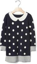 Gap Intarsia collar sweater dress