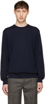 Paul Smith Navy Merino Knit Pullover