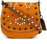 Coach embellished saddle bag