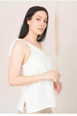 Beaumont Organic Maggie Cami Top - XS / Off White - White