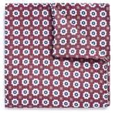 Lardini Floral print linen-silk pocket square