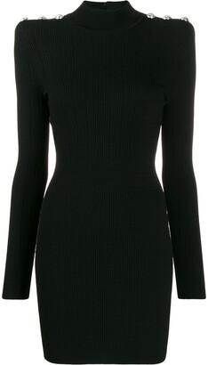 Balmain Buttoned knit mini-dress
