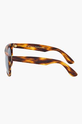 Super Brown tortoiseshell Flat Top sunglasses