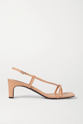 BEVZA Leather Sandals - Beige