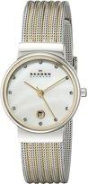 Skagen Women's 355SSGS White Label Analog Display Analog Quartz Watch