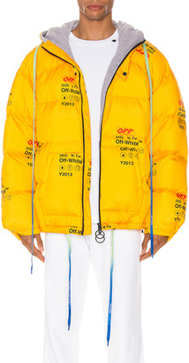 Off-White Off White Industrial Zipped Puffer in Yellow   FWRD