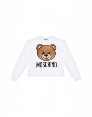 Moschino Teddy Embroidery Sweatshirt Woman White Size 4a It - (4y Us)