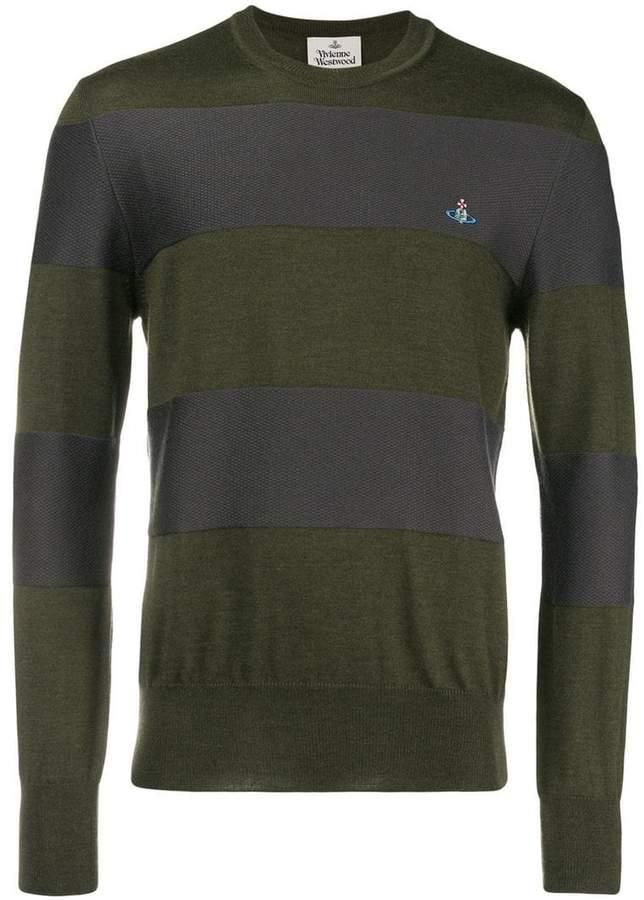 Vivienne Westwood striped crew neck sweater