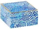 Lilly Pulitzer Blue Tang Gang Lacquer Box