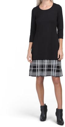 Plaid Fit Flare Sweater Dress