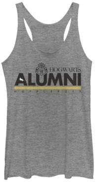 Fifth Sun Harry Potter Hogwarts Alumni Hufflepuff Tri-Blend Women's Racerback Tank