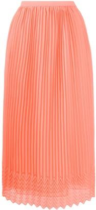 Marco De Vincenzo High Waisted Pleated Skirt