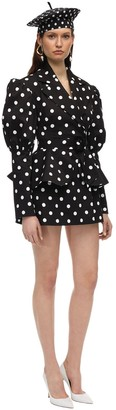 MARIANNA SENCHINA Polka Dot Canvas Jacket Dress