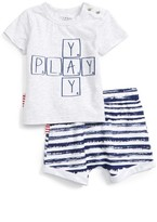 Infant Boy's Sookibaby Play T-Shirt & Shorts Set