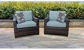 Kathy Ireland Homes & Gardens By Tk Classics River Brook Patio Chair with Cushions Homes & Gardens by TK Classics Cushion Color: Tranquil