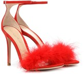 Gianvito Rossi Exclusive to Mytheresa Bliss feather-trimmed suede sandals