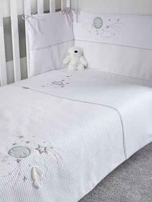 Clair De Lune Over the Moon Cot/Cot Bed Quilt & Bumper Bedding Set