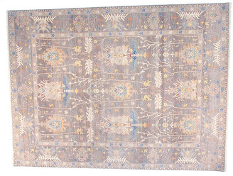 F.J. Kashanian 9'x12' Sari Oushak Jen Rug - Gray