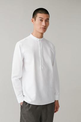 Cos Grandad-Collar Tunic Shirt