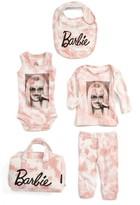 Little Eleven Paris Infant Girl's X Barbie Tie Dye Bib, Bodysuit, Shirt, Leggings & Bag Set