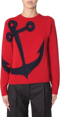 N°21 N.21 Jacquard Anchor Sweater