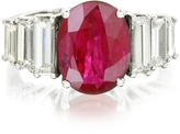Forzieri Ruby and Diamond White Gold Ring