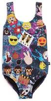 Terez Girls' Emoji Patch Print One Piece Swimsuit - Sizes 6-16
