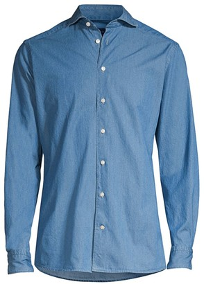 Eton Contemporary-Fit Chambray Soft Shirt
