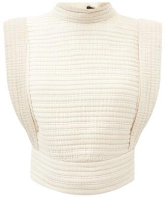 Isabel Marant Carola Sleeveless Quilted-cotton Top - Ivory