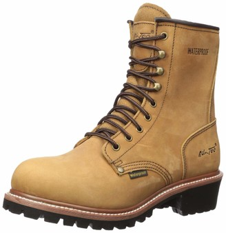 "AdTec Ad Tec 9"" Super Logger Soft Toe Boots for Men Leather Goodyear Welt Construction & Utility Footwear Durable and Long Lasting Work Shoes Lug Sole"
