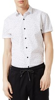 Topman Men's Slim Fit Confetti Print Shirt