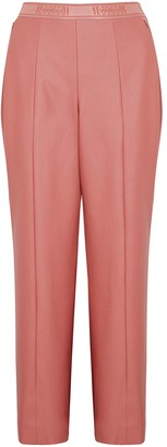 Wolford Estella pink faux leather trousers
