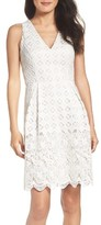 Adrianna Papell Petite Women's Lace Fit & Flare Dress