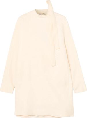 Valentino Pussy-bow Wool And Silk-blend Grain De Poudre Mini Dress