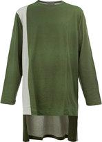 Yohji Yamamoto printed high-low hem top - men - Cotton - 3