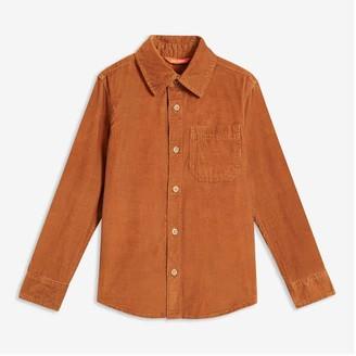 Joe Fresh Kid Boys' Corduroy Shirt, JF Midnight Blue (Size M)