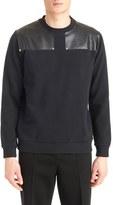 Givenchy Men's Leather Shoulder Sweatshirt