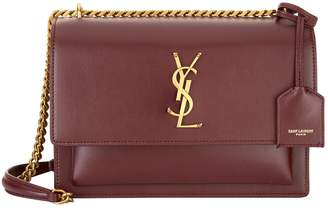 Saint Laurent Medium Leather Sunset Shoulder Bag