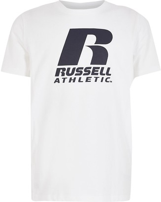 River Island Boys Russell Athletic white T-shirt