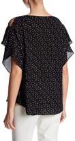 Max Studio Ruffle Sleeve Blouse