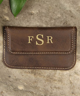 Cabany Co Card Holders Brown - Brown Monogram Business Card Holder
