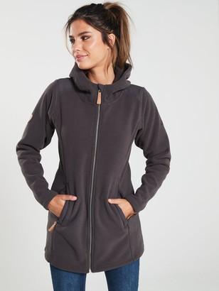 Trespass Citizen Long Length Fleece Jacket - Charcoal